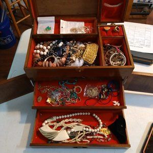 Jewelry Box with Jewelry Inside